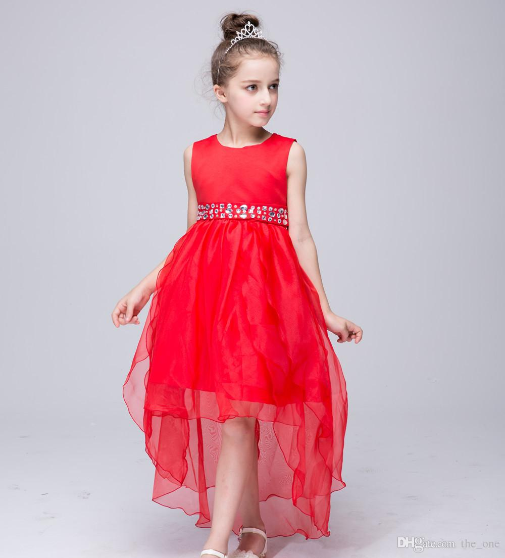 2019 Elegant Christmas New Year Baby Girls Long Tail Dress Kids Bowknot  Trailing Gown Dress Birthday Wedding Party Tutu Dress From The one 7220255a0264