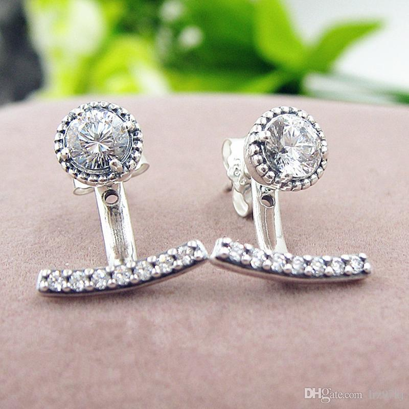 6d36813ac 2019 2017 Spring 925 Sterling Silver Abstract Elegance Stud Earrings With  Cz Fits European Pandora Charms Jewelry From Lrz97kj, $16.49 | DHgate.Com