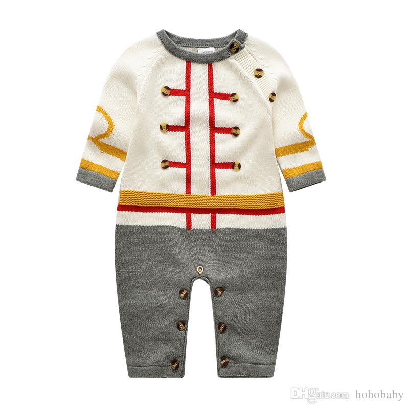 e868baee0817 2019 Newborn Baby Boy Romper Winter Baby Boy Jumpsuit Clothes Underwear  Rompers Clothing High Quality Warm Costume From Hohobaby