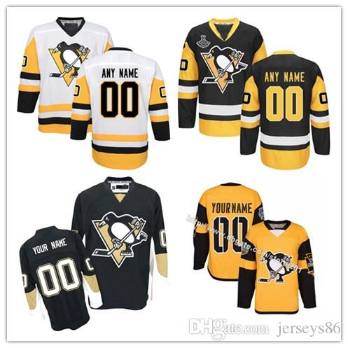 24304b01754 ... coupon for customized 2017 mens pittsburgh penguins any name any number  ice hockey jerseys premier custom