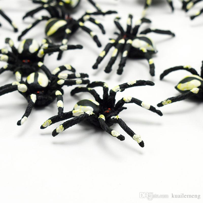 Novelty & Gag Toys Lifelike Simulation White figuratus spider Animals Action Figure Toy funny Practical Jokes toys Wacky toy