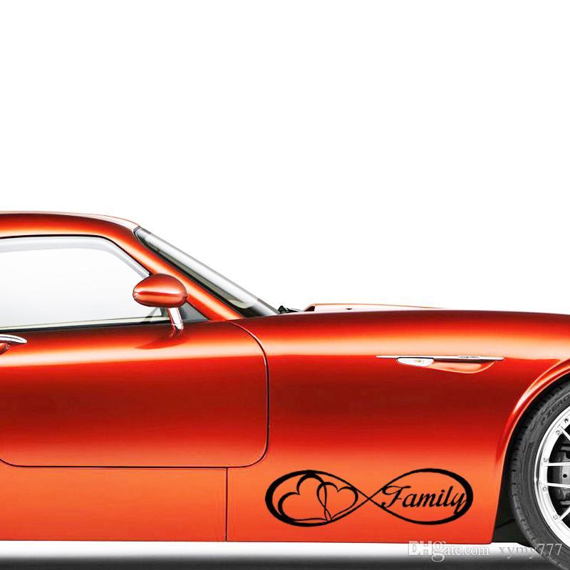 Infinity Famiglia amore cuore sempre Symbol Car Styling decalcomania del vinile Jdm Car Window Adesivo Accessori Decorare Art