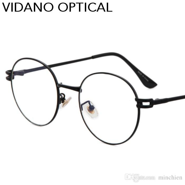 fde2327f2c05 Vidano Optical New Arrival Round Vintage Men Eyeglasses For Women Glasses  Flat Lens Old School Retro Summer Fashion UV400 Coated Lens Wiley X  Sunglasses ...