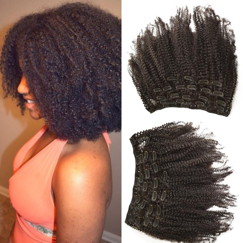 Burmese Human Hair Pieces Afro Kinky Curly Clip In Hair Extensions For  African American 8 24 Inch FDSHINE Extensions Clips Hair Clips For  Extensions From ... d39ba6568c65