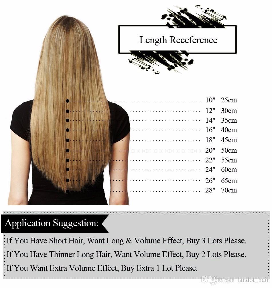 Mejor cinta 10A En la piel extensiones del cabello humano Remy de la Virgen original indio brasileño rusa de las tramas de doble cara de la PU de la cinta en el pelo hasta 1 año de vida