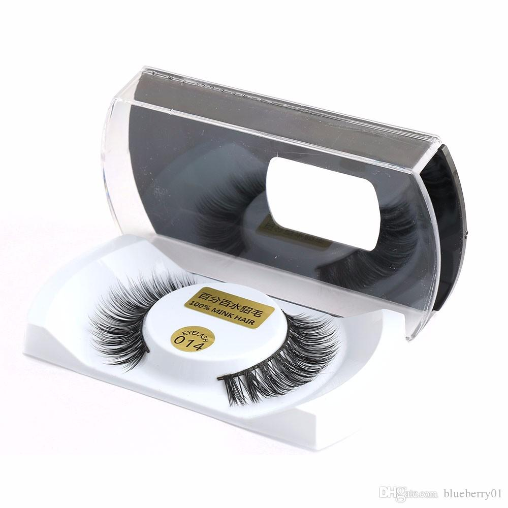 Beauty & Health False Eyelashes Fashion Women 1 Pair 100% Real Mink Natural Long Thick False Fake Eyelashes Eye Lashes Makeup Extension Beauty Tools Makeup Tool