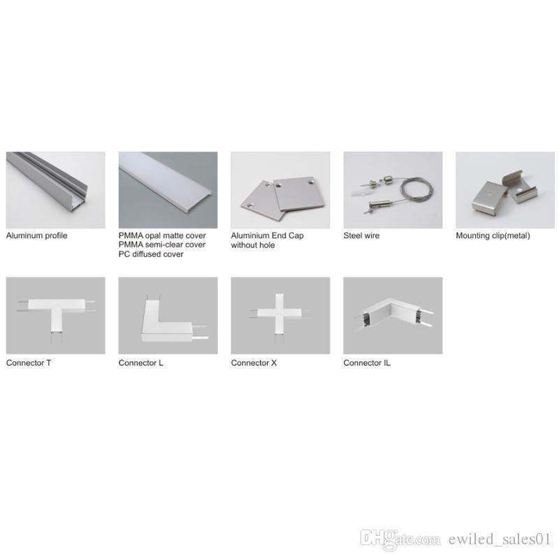 Profil en aluminium mené de série de 50 X 1M / 6000 séries et canal de profilé de plafond carré Al6063 pour le plancher ou les lampes de mur enfoncées
