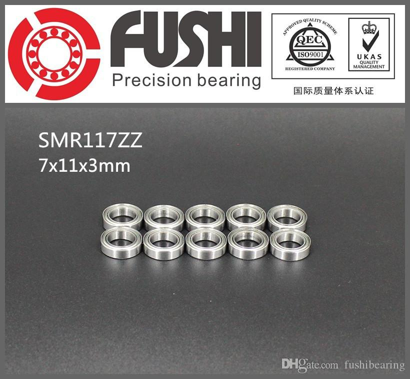 SMR117-ZZ    7MM ID 11MM OD 3MM Thick SS Ball Bearing