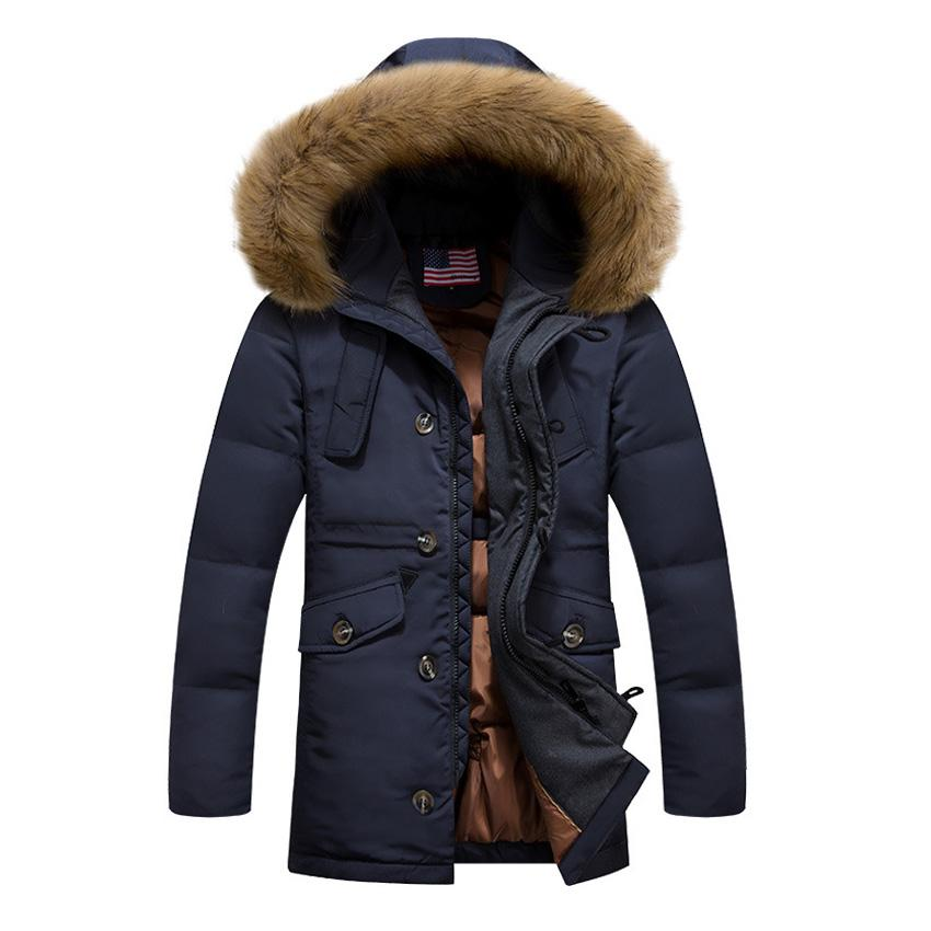 2017 Wholesale White Goose Down Jacket Men Long Winter Jacket Men ...