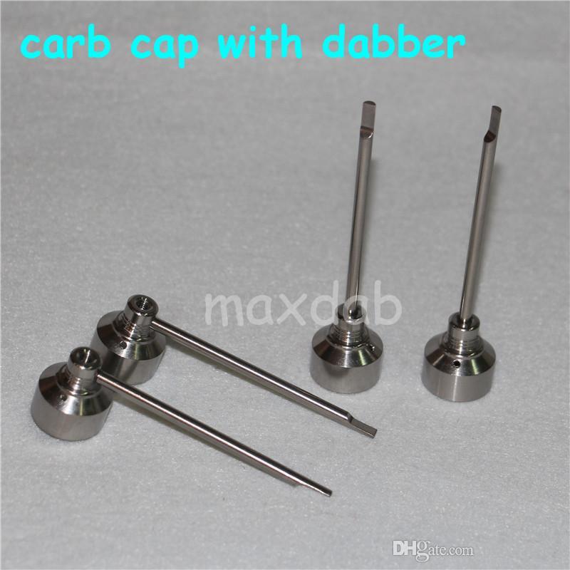 유리 봉 도구 세트 Domless GR2 티타늄 네일 티타늄 네일 카바 캡 Dabber TOOL slicone Jar Dab 컨테이너