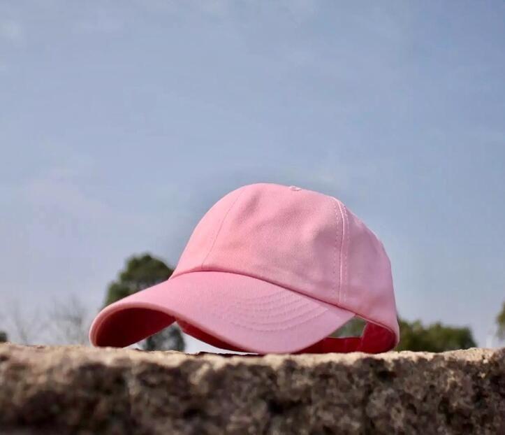 b97e71895af 2017 New Solid Adjustable Snapbacks Hats Pink Blank Strap Back Caps Fashion  Cotton Golf Visor Caps For Men And Women Bone Gorras Swag Cap Shop Flexfit  Caps ...