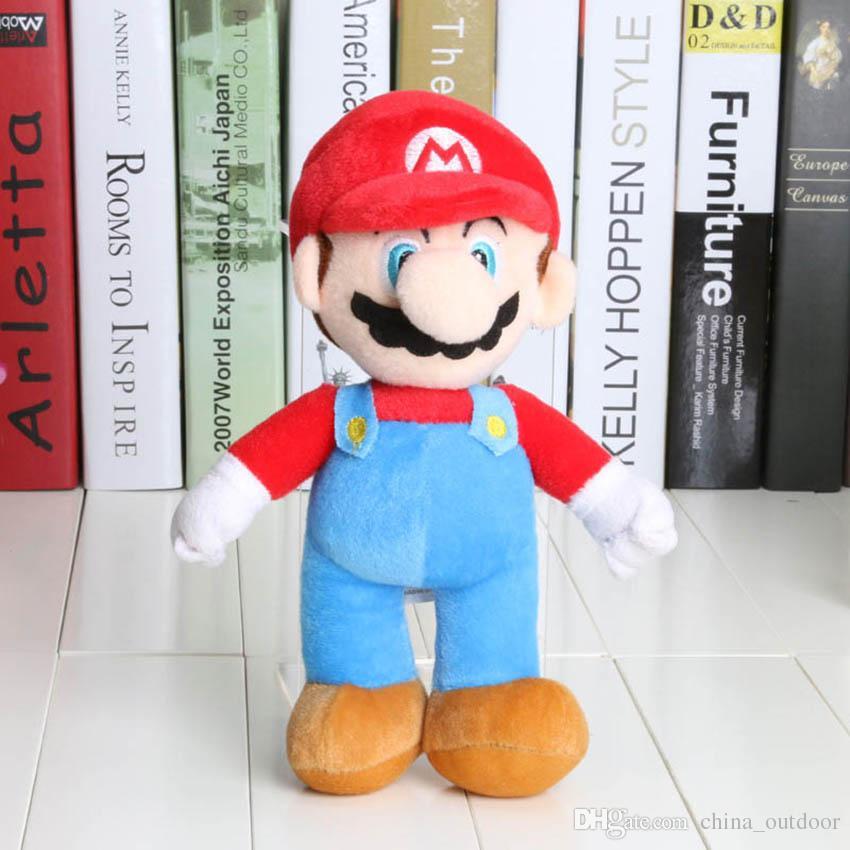 10 '' New Alta Qualidade 100 pçs / lote Super Mario Bros Stand MARIO LUIGI Brinquedos De Pelúcia Boneca De Brinquedo De Pelúcia