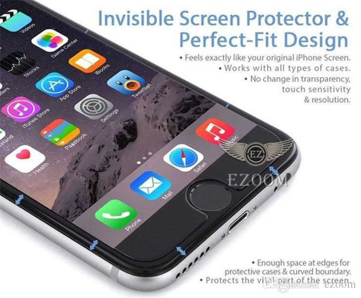 For Iphone X 7plus Tempered Glass Screen Protector for Samsung S6 S7 A7 A9 Note 5 Grand Prime Screen Film Protection With 9H Hardness 0.26mm