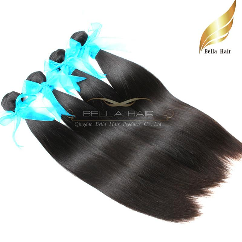 Malaysian Hair Straight Weave Silky Human Hair Extensions Hair Weft 10-34 Inch Grade 9A 4pcs lot Natural Color