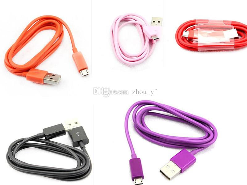 v8 USB charging cable 1m 3ft v8 micro for i5 i6 i7 for samsung s3 s4 s5 galaxy note 4 HTC usb line usb charger