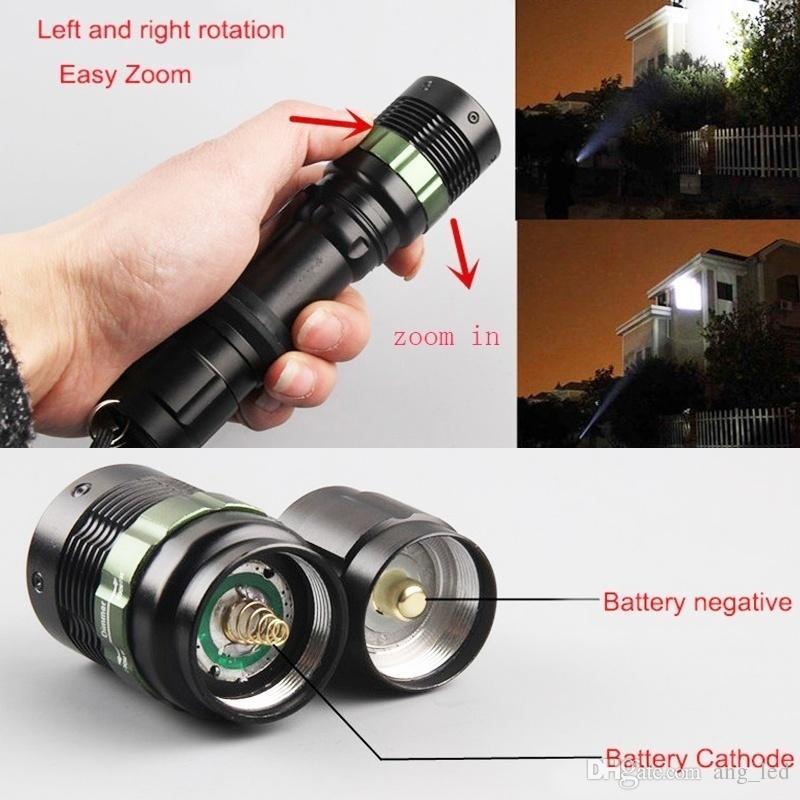 Cree Q5 LED Torches White LED Flashlights Zoomable Mini Pen Lanterna Baton Defense Portable LED Flashlight for Bike Fishing Outdoor Camping