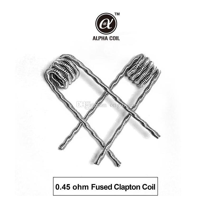 오리지널 알파 6 in 1 Pre-Built Coils 가열 저항 전선 타이거 Alien Fused Clapton 플랫 믹스 트위스트 코일 48 개 / 박스