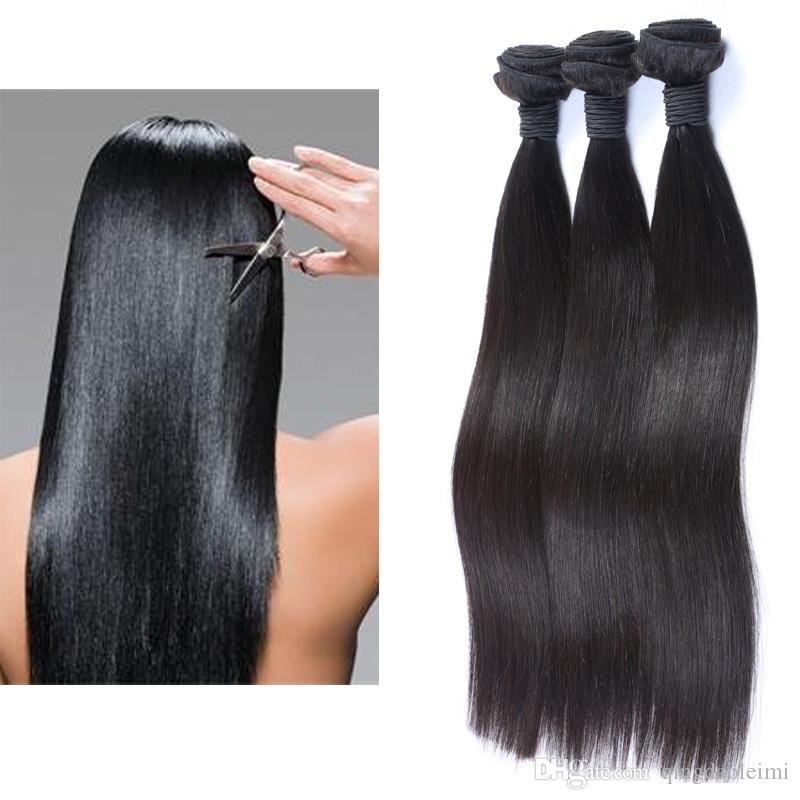 Top Quality Hair Brazilian Straight Virgin Hair Weave 3 Bundles 10