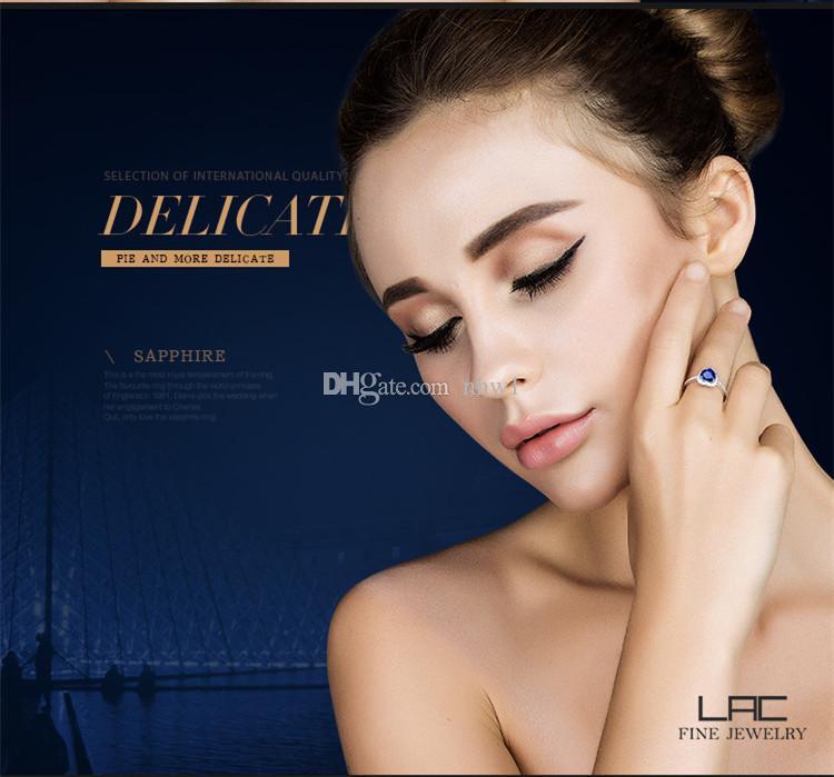 Austria Rhinestone & Crystal Finger Ring Ocean Blue Love Heart Design For Women Elegant Stylish Gift Romantic Titanic