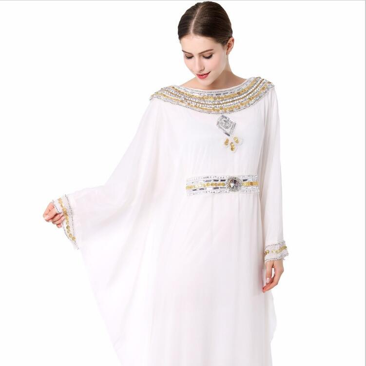 738dbe7edd5 2019 Women Embroidery Long Sleeve Muslim Abaya Dress Gown Dubai Moroccan Kaftan  Caftan Islamic Abaya Clothing Turkish Arabic Dress Ethnic Clothin From ...