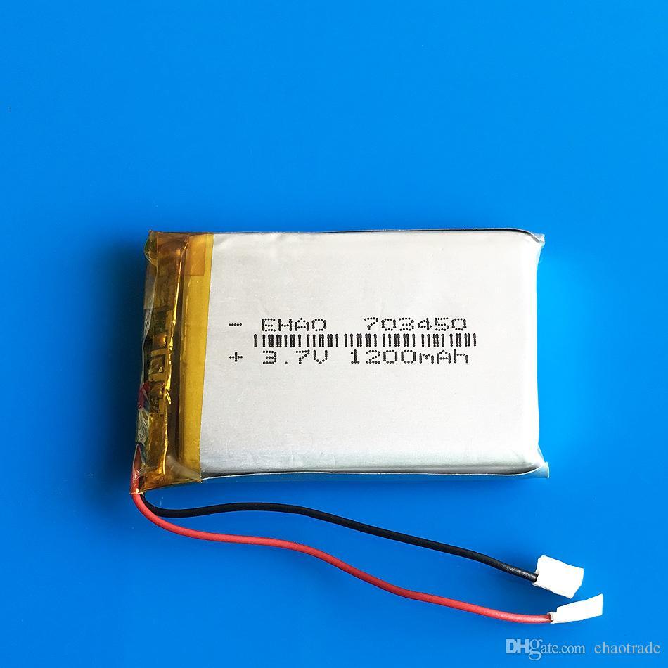 Модель 703450 3.7 V 1200mAh Li-Po аккумуляторная батарея литий-полимерный для Mp3 DVD PAD мобильный телефон GPS Power bank камера электронные книги recoder