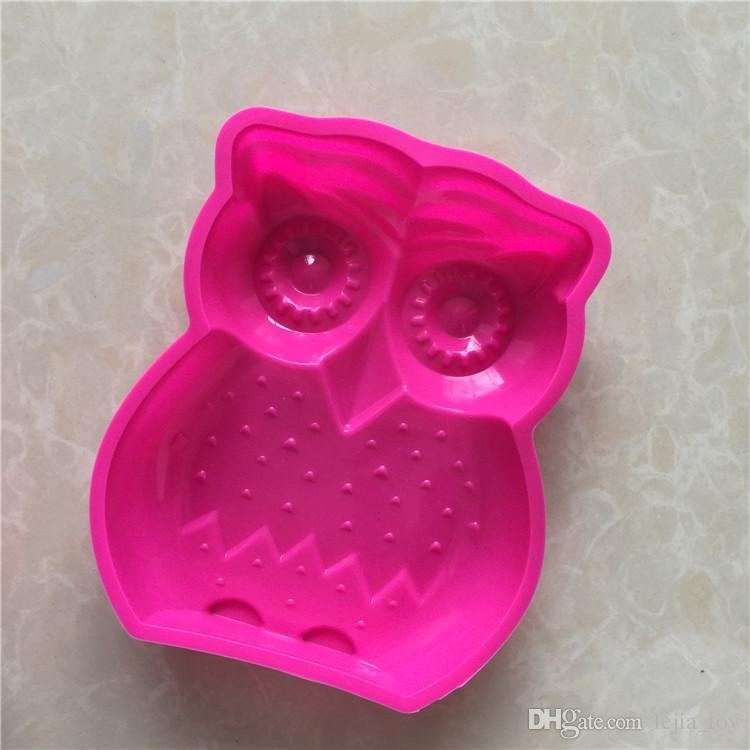 cartoon figure owl shape 1 holes Silicone Mold Cake Decoration tools Food Grade cake soap chocolate Moulds baking bakeware