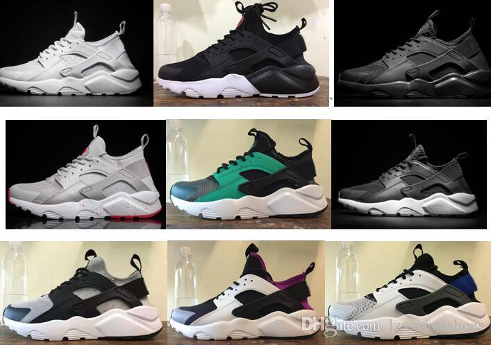 2019 Cheap Air Huarache 2 II Ultra Classical All White And Black Huaraches  Shoes Men Women Sneakers Running Shoes Size 36 45 Online For Sale From ... 86bb38fff