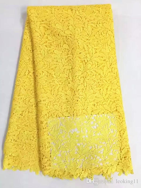 Nueva moda árbol púrpura hojas de diseño africano tela de encaje soluble en agua francés guipur de encaje para el vestido de fiesta RW9-3