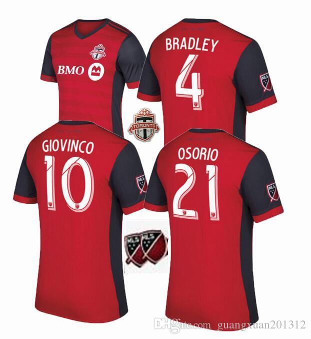 8704778f6 ... 2017 Canada Toronto FC Soccer jersey 2017 18 BRADLEY GIOVINCO OSORIO ALTIDORE  MLS Toronto football shirt Top ...
