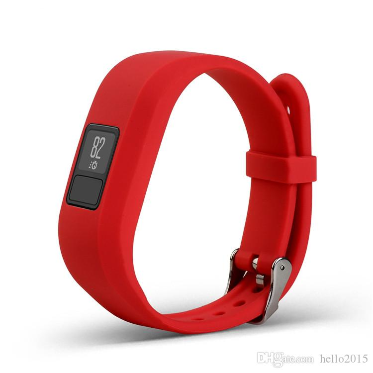 DHL 패스트 쉽 Garmin Vivofit3 Vivofit 3 스마트 시계 용 새 소프트 실리콘 교체 손목 시계 밴드 스트랩