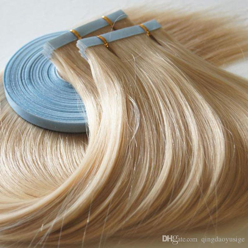 Hot Selling Blond And Omber Tape Hair Extensions 25gpcbag Skin
