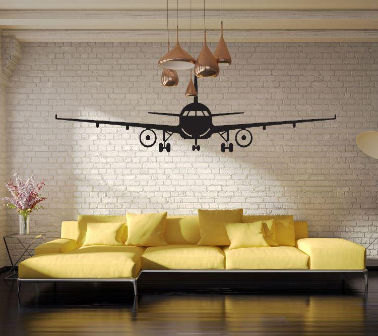 4028 3d Airplane Wall Stickers Muraux Wall Decor Airplane Wall Art Decal  Decoration Vinyl Stickers Removable Airplane Wallpaper Home Decal Stickers  Home ...