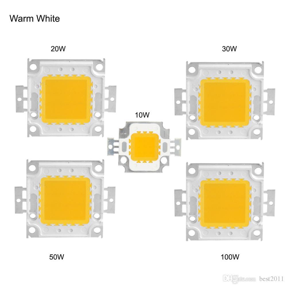 Puissance élevée LED puce 45mil Bleu Vert Jaune Rouge Chaud Naturel Pur Cool Blanc Watt 10W 20W 30W 50W 100W COB Intégration Ampoules
