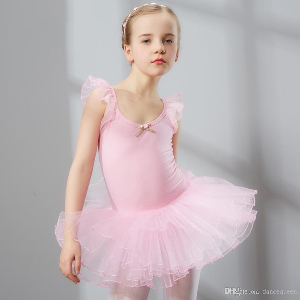 Compre 2017 Hot Girl Kids Vestido De Baile De Ballet Rosa / Púrpura ...