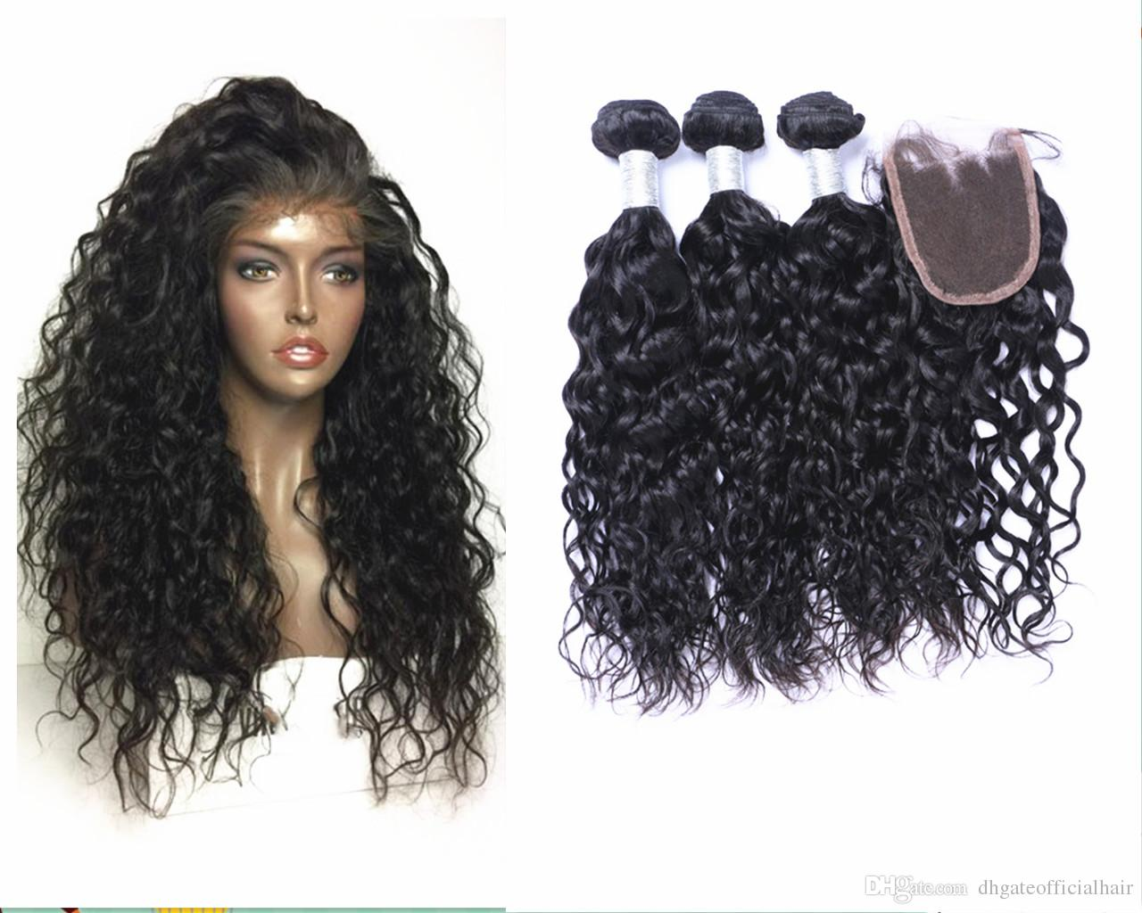 2018 Brazilian Hair Weave Buy Hair Get One Free Lace Closure And Cap