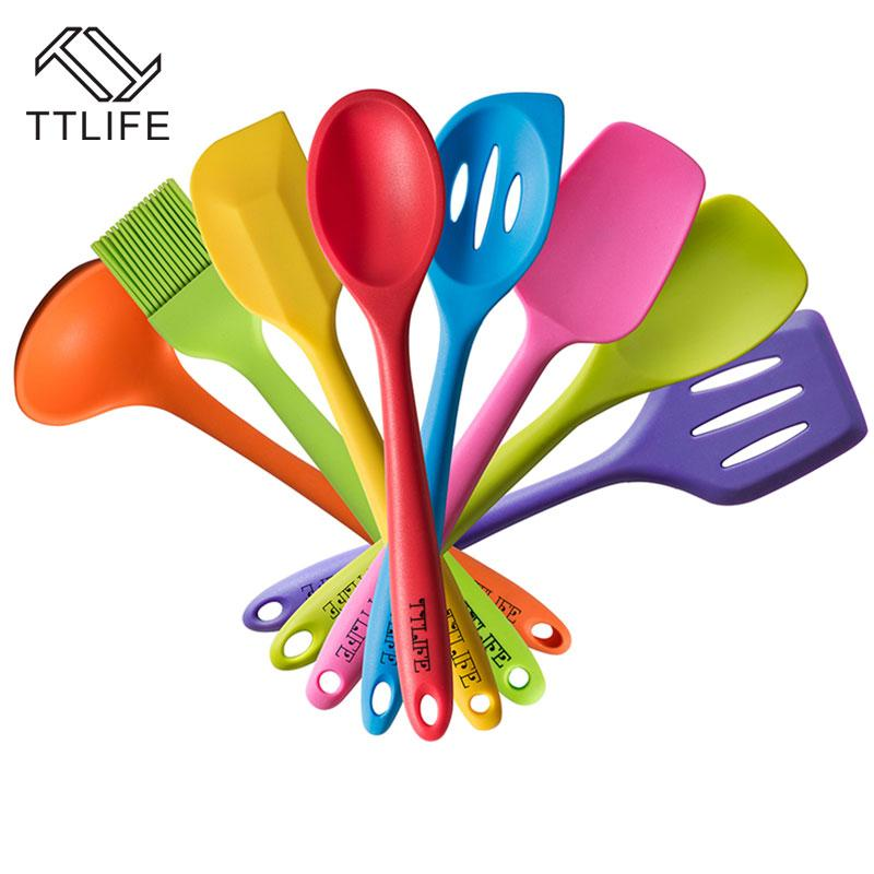 Online Cheap Ttlife Fda Approved Silicone Cooking Tools Utensil Set ...