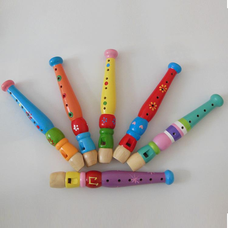 Foreign trade wooden flute kindergarten teaching aid large wooden flute  flute Musical Instruments playing toys