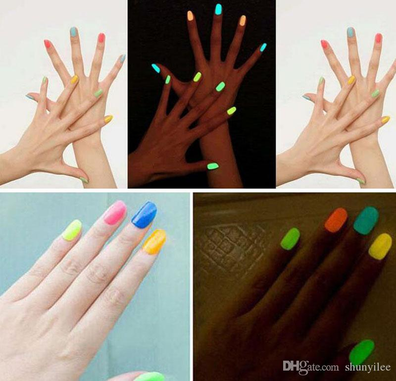 Hot Sell 20 Candy Color Fluorescent Neon Luminous Gel Nail Polish for Glow in Dark Nail Varnish Manicure Enamel For Bar Party ZA1668