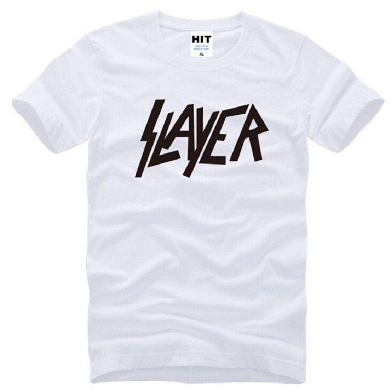 New Summer Style Slayer T Shirts Men Cotton Short Sleeve Metal Rock Men's T-Shirt Fashion Speed metal band Male Hip Hop Top Tee