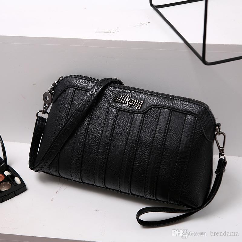 Elegant Lady Evening Bag Small Black Clutch Bag Dual Use Dinner ...