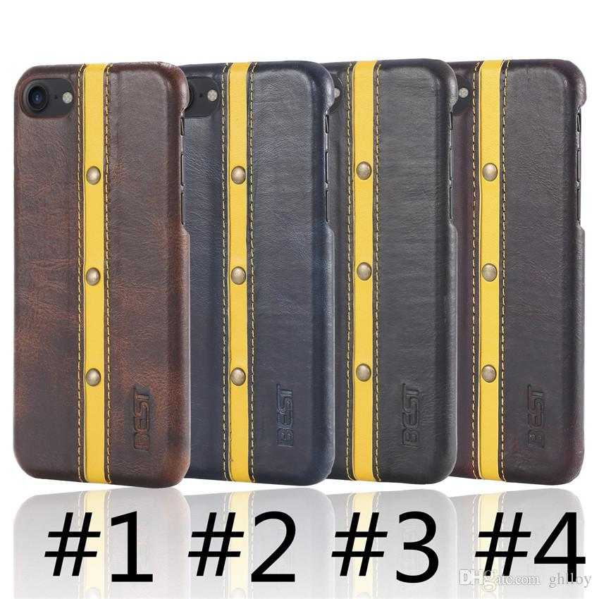Для iphone 7 7 плюс чехол мода качество жесткий кожаный противоударный чехол с двумя стиль задняя крышка защитный чехол для телефона DHL Бесплатная доставка