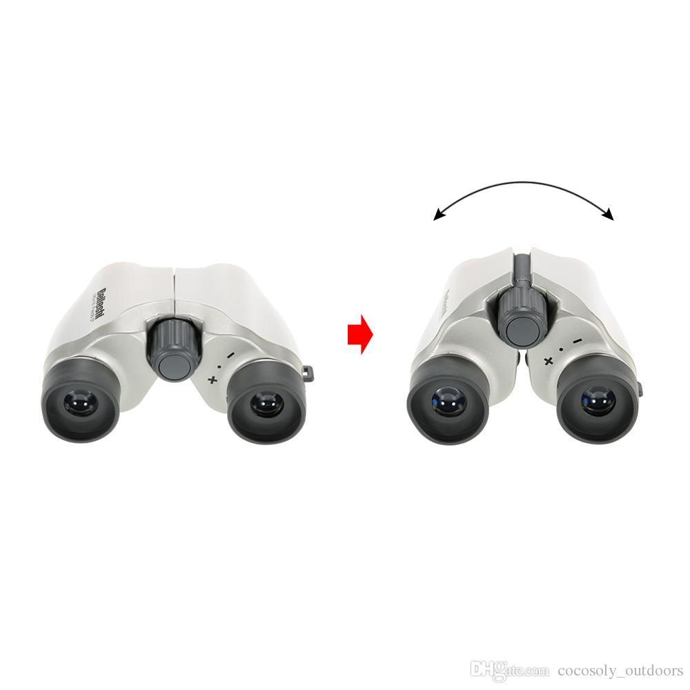 6X18 HD Binoculares Potente Zoom Telescopio de Largo Alcance Binocular Profesional de Alta Potencia Alcance del Telescopio de Lentes Ópticos