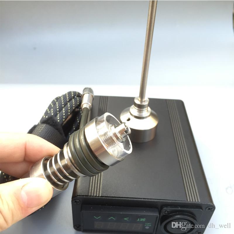 Caja de mod portable del regulador de la temperatura del clavo del dab para el mod del vape del bong del vidrio con el clavo de titanio titanium domeless del tazón de fuente del plato del cuarzo