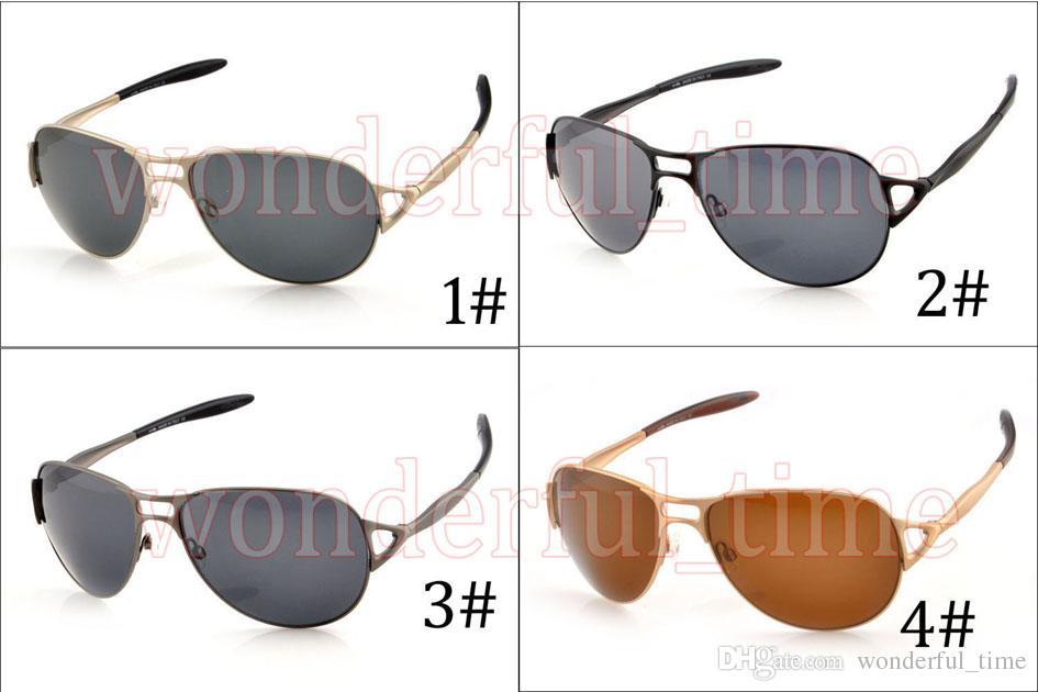 Высокое качество унисекс лягушка двойной нос металла поляризованные солнцезащитные очки + Case Goggle вождение Велоспорт пляжные очки 4 цвета Бесплатная доставка