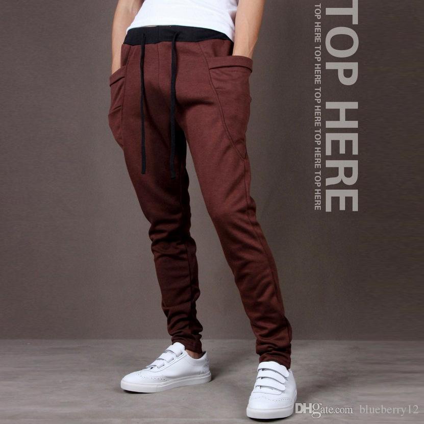 Nuevos Hombres Joggers Moda Harem Pants Pantalones Hip Hop Slim Fit Pantalones de chándal Hombres para Jogging Dance es pantalones deportivos M ~ XXL