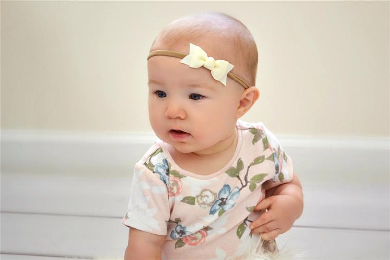 Bébé Nylon Élastique Bandeaux Arc Enfants Grosgrain Ruban Bowknot Bandeaux Filles Bunny Ear Bandeau Enfants Cheveux Accessoires Chapeaux KHA139