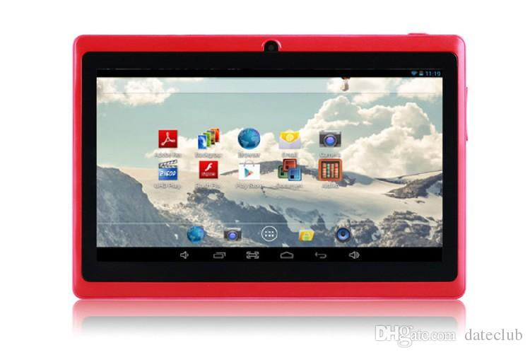 Q88 7 Inch Android 4.4 Tablet PC ALLwinner A33 Quade Core Dual Camera 8GB 512MB Capacitive Cheap Tablets