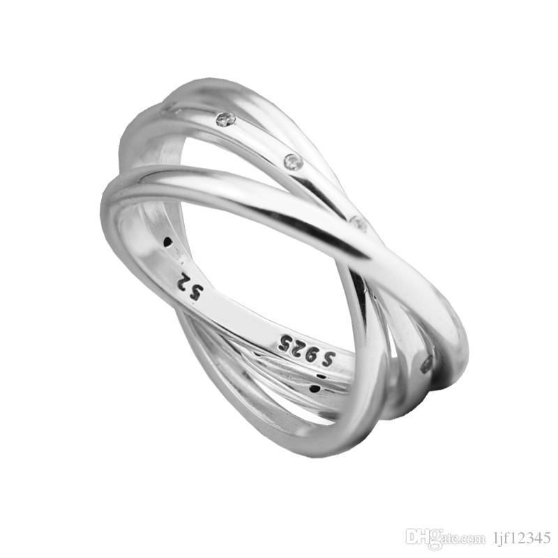 d3340efec Swirling Symmetry Clear CZ Woman Rings Sterling Silver Newest Authentic  Pure Sterling Wholesale Ring European Style Mother'S Day Gift Jewellers  Diamond Stud ...