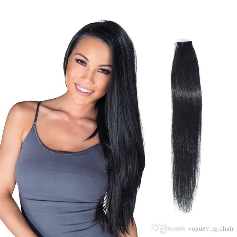 Tape In Human Hair Extensions Brazilian Human Hair 16 18 20 22 24