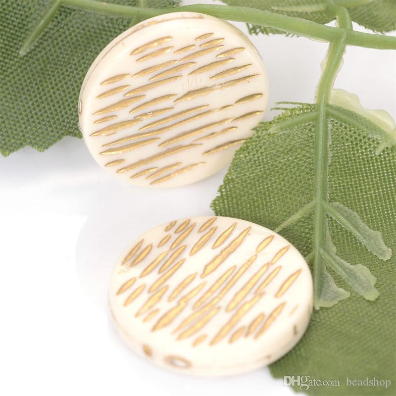 4.5x24mm Fluted Corrugated Flat Round Acrylic Antique Design Beads For Women Diy Bracelet Bangle Jewelry Making Accessories